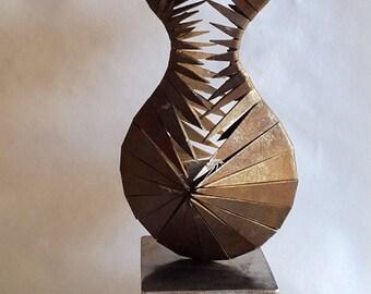 Original Abstract Modern Metal Sculpture, Art Objekt for Open Space and Interior Decor