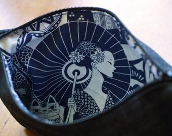 The Geisha - Denim Pouch