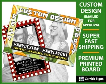 Custom Selfie Frame, Bespoke Design Personalised Photo Frame Prop for Birthday, Wedding, Party Event [UK MAINLAND ONLY]