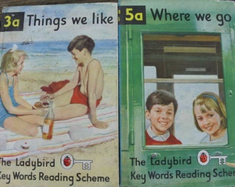Where We Go/ Things we Like/ Set of Two Ladybird Books/ Vintage Books/Children's Books/SALE (0021N)