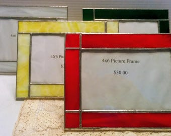 Handmade Stained Glass Picture Frame