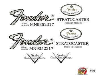 Bass headstock decal further  on fender telecaster serial number