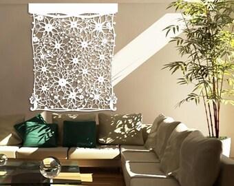 Designer Laser Cut Backgrounds | Home Decor, Interior Design, Wall Hangings, Fashionable: Floral Wall Design 2