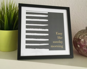 Printart / wallart / walldecoration / sunday morning - picture frame