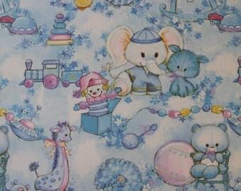 Retro/Vintage Gift Wrapping Paper - 2 Sheets - Baby Girl - Baby Shower/Newborn/Birthday/Christening - kitsch