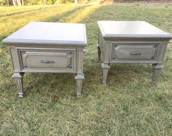 SOLD!!! Matching Pair of Upcycled End Tables