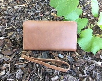 Brown or Black Leather Large Wallet