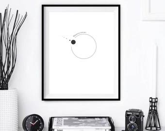 Wherever you are minimalist print