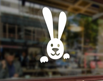 Bunny Rabbit Peeps Vinyl Stickers Funny Decals Bumper Car Auto Computer Laptop Wall Window Glass Skateboard Snowboard Helmet