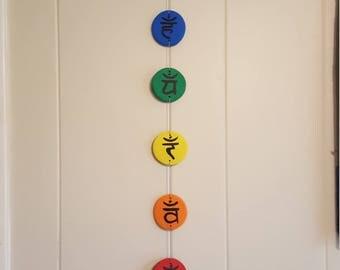chakra symbols wall hanging