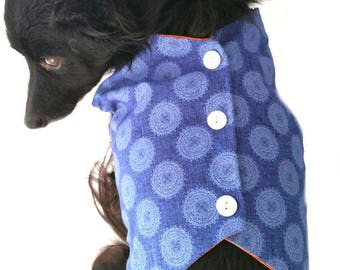 Cotton Lined Dog Vest/3 Sizes/Adjustable Fit