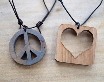 Peace and Love Pendants