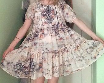 70s inspired Bohemian Dress