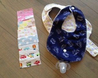 Bitty Baby Style-infant bib with pacifier holder