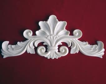 Decorative Centre Flourish Resin Applique - Furniture/Door Moulding - Onlay