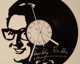 Vinyl Clock, great 50s rocker, Christmas gift, Wall clock, vinyl record clock