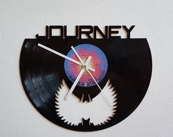 Vinyl Clock, 80s rock band, Christmas gift, Wall clock, vinyl record clock