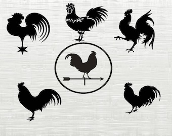 Rooster SVG, Rooster cutfile svg, svg files for silhouette cameo, cricut explore, dxf file, roosters