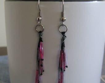 Pink Flutter Earrings