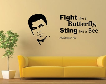 Muhammed Ali   Wall Decal  Silhouette. Self Adhesive Sticker