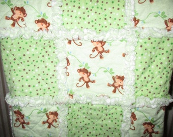 Monkey rag quilt-3 piece set