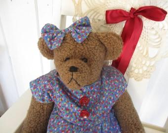 Bear- handmade rag doll