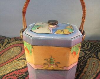 Biscuit jar ArtDeco made in Japan 1930s