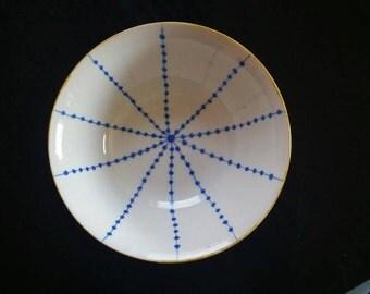 Hand painted bowl - Royal blue- FREE SHIPPING