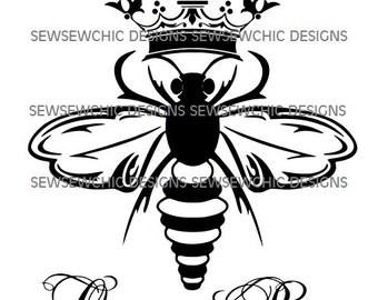 Queen Bee SVG Bumble Bee Crown