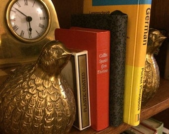 Brass Birds Small Book Ends