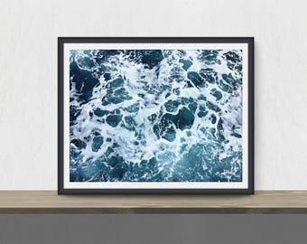 Ocean Print, Ocean Printable Art, Seascape Print, Modern Ocean Photography, Instant Download, Coastal Printable Poster, Printable Download