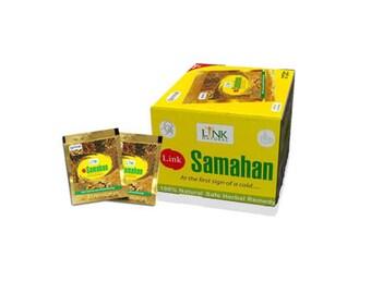 Samahan Ayurvedic Herbal Tea 100 Natural Drink packets for Cough & Cold