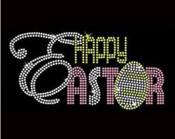 Happy Easter Rhinestone Iron on Transfer                                              0UI9
