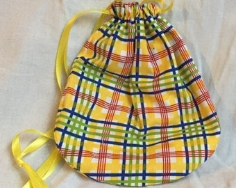 Yellow Plaid Reticule