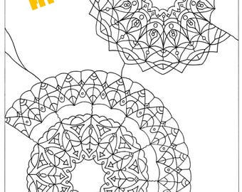 From my book Mandala coloring book a page to be downloaded in digital format, print and color