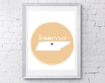 8x10 Tennessee - **Printed on Matte Photographic Paper