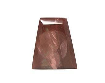 Porcelain Jasper Semiprecious Gemstone Cabochon - Maroon and Pink Shield Natural Gemstone Loose Geo Jewel DIY Jewelry Component