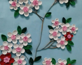 QUILLING CHERRY BLOSSOMS