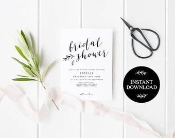 Bridal Shower Invitation INSTANT DOWNLOAD,  Bridal Shower Invite, Before I do, Bachelorette Printable, Hens Night Invitation - Lilly