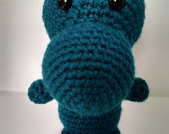 Dinosaur plushie-crocheted