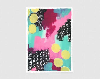 Polka Dot Blank Greeting Card