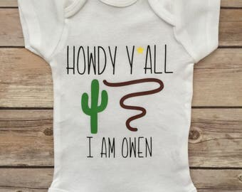 Little Cowboy Baby Boy Outfit®, Newborn Outfit, Baby Boy Personalized Onesie®, Baby Shower Gift, Cowboy Onesie®, Baby Boy Outfit, Baby