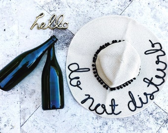 Do not Disturb Sun Hat / Personalized Sun Hat / Floopy Hat / Beach Hat / Name Hat
