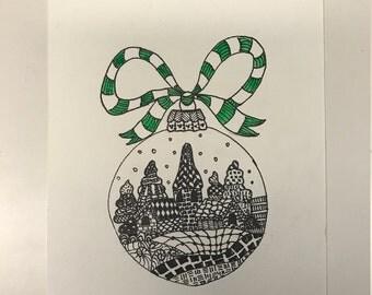 Ornament Hand-drawn Print