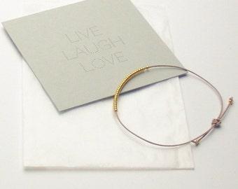Bracelet - LIVE LAUGH LOVE - Sand/Beige