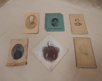 VINTAGE White & Black photos , 1 dated 1895 and so forth ....
