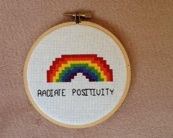 Rainbow cross stitch