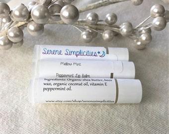 2 for 5.00 deal: All natural peppermint lip balm, lip shimmer, lip tint