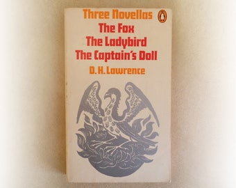 DH Lawrence - Three Novellas - The Fox, The Ladybird, The Captain's Doll - Penguin vintage paperback book - 1971