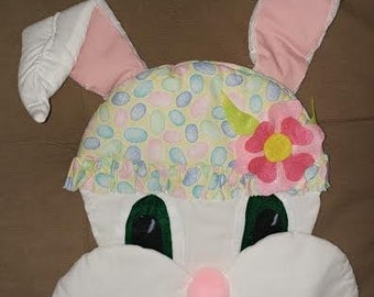 Whimsical Spring / Easter Bunny Door/Wall Hanging